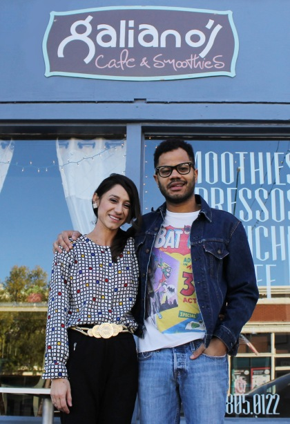 Jeana and Robert Uribe are pictured outside of their cafe, in Douglas, Arizona.